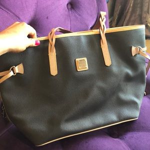 Very nice dark brown Dooney tote